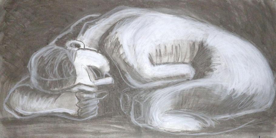 Sad Danaid - Female Nude