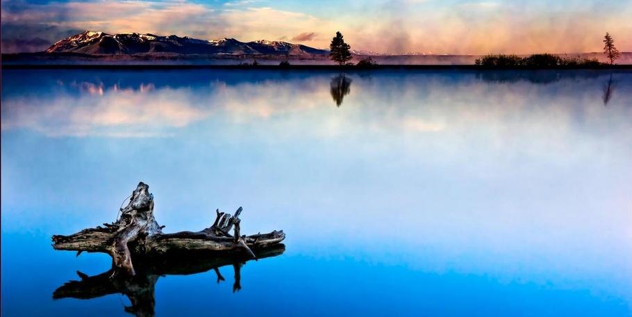 Misty Morning Lake