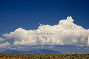 Utah Avajo Mountians and clouds