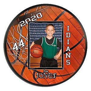 Basketball RND Plaque