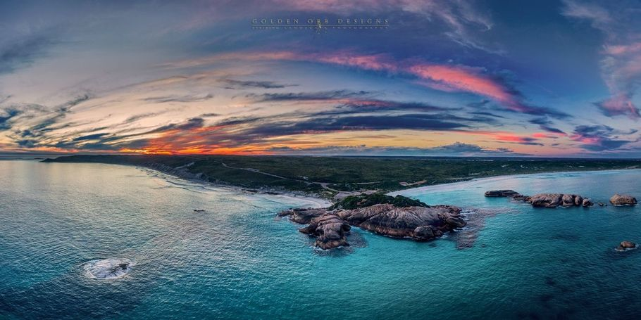 Twilight Beach Drone Sunset