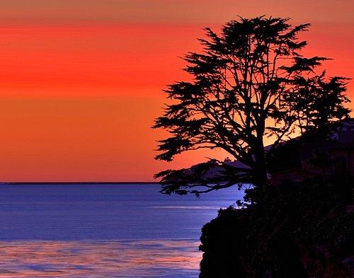 Sunset at Shell Beach California