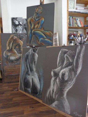 Carmen Tyrrell - artist in the studio