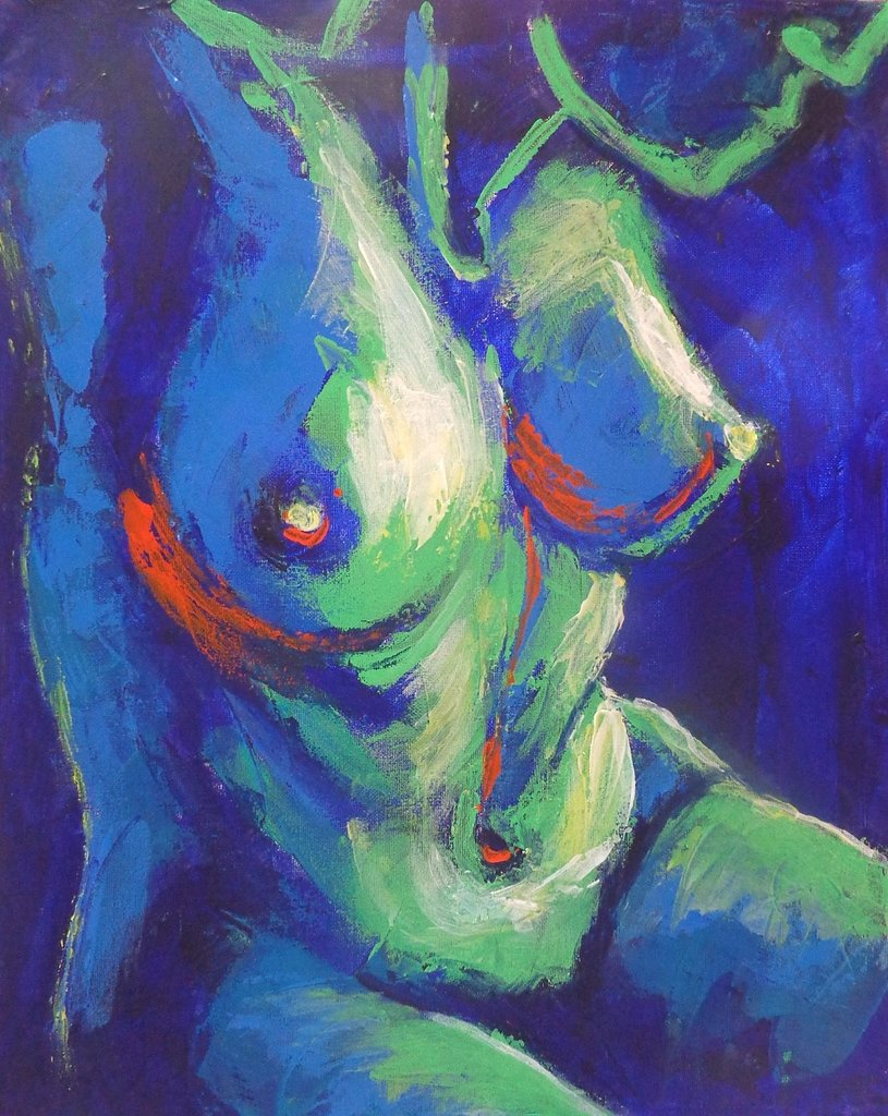 original figurative acrylics painting on canvas