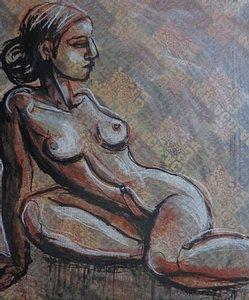 original figurative acrylics painting on canvas