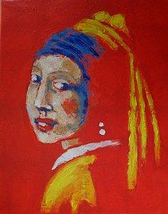original, figurative acrylics portrait painting on canvas