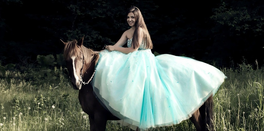 Fairy tale in a prom dress