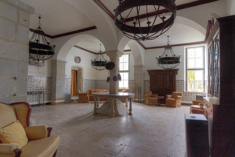 Interior traditional kitchen at historic Pehna Longa, Portugal