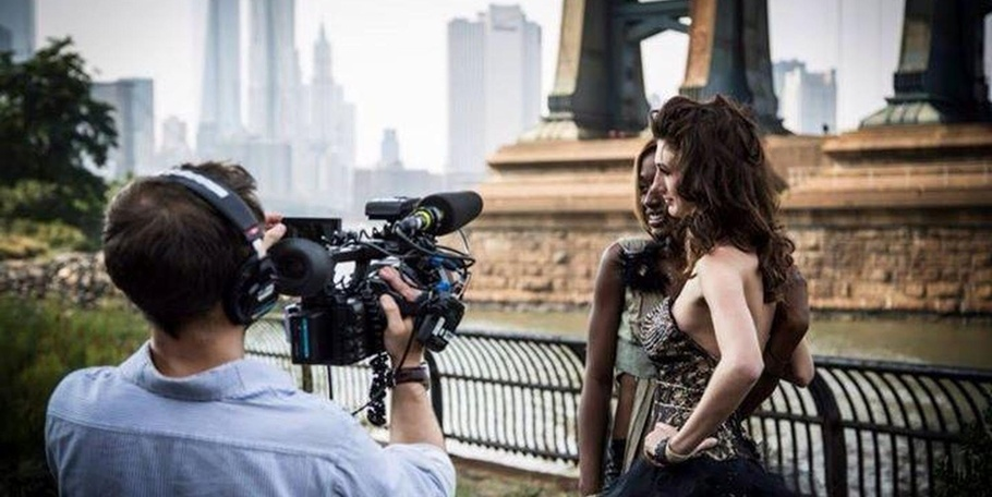 Filming in New York