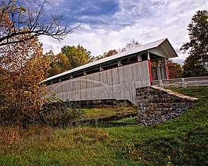 Ryot Covered Bridge, Bedford County, PA - photo by Tim Flanigan at Nature Exposure