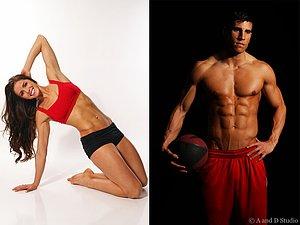 Fitness model portfolio shoot