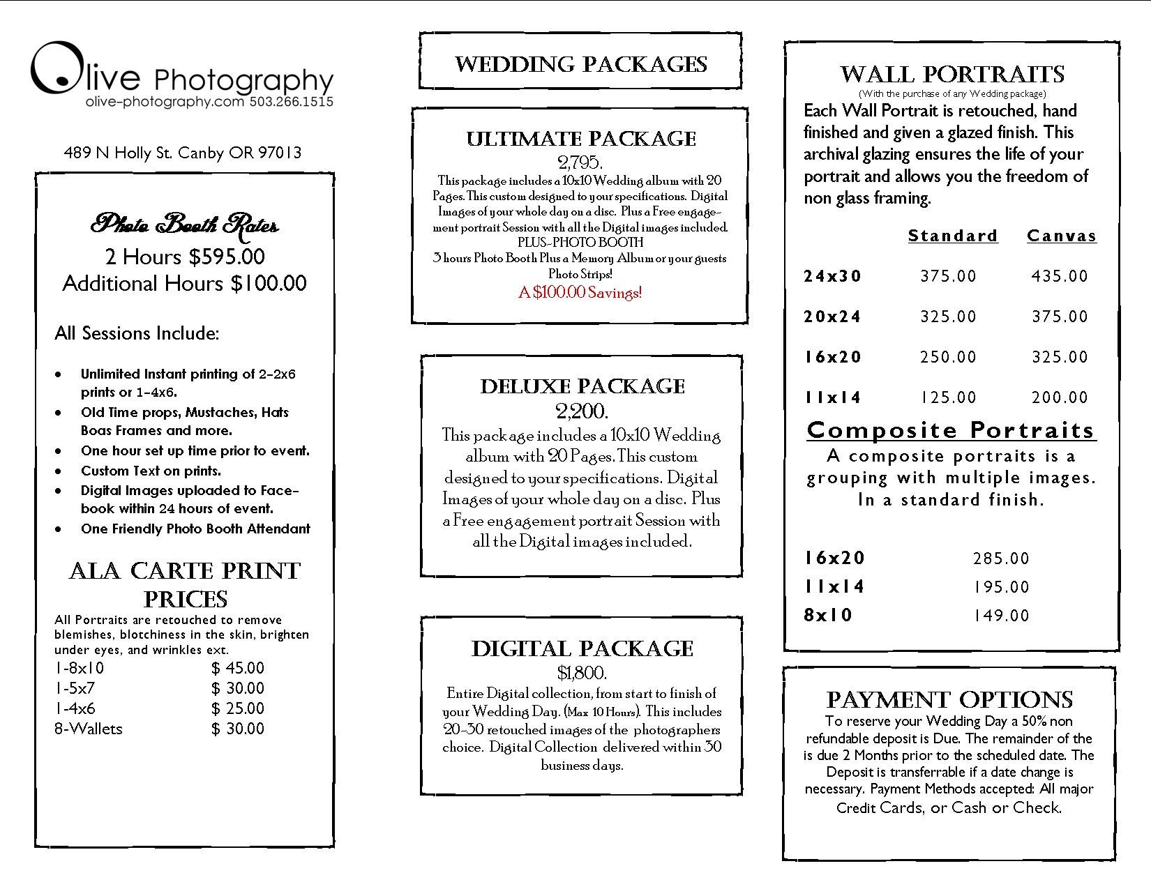 Prices :: Olive Photography
