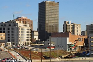 Akron skyline photo by Ohio Stock Photography D1U35
