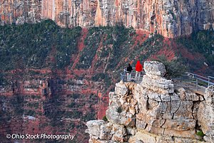 Two people standing on the edge of the Grand Canyon photo by Ohio Stock Photography D14A1.