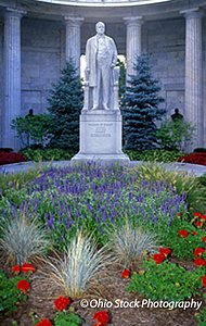 Statue of President William McKinley at the McKinley Birthplace Memorial and Museum photo by Ohio Stock Photography 33X10