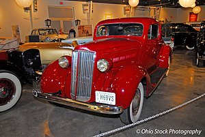 Red Packard at the National Packard Museum photo by Ohio Stock Photography D36V15