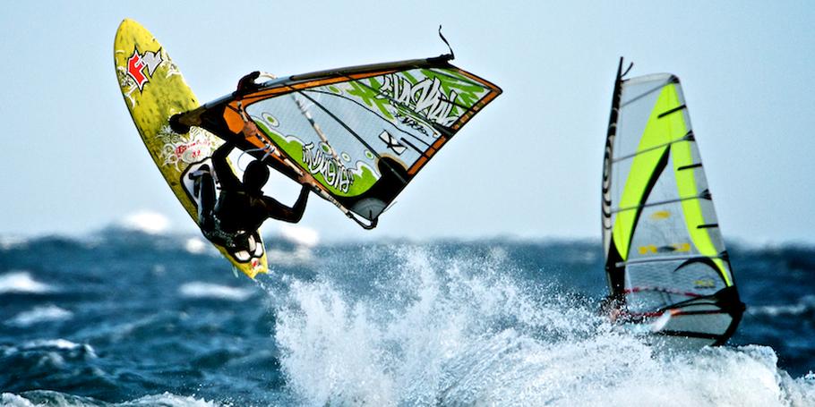 Windsurfing shots