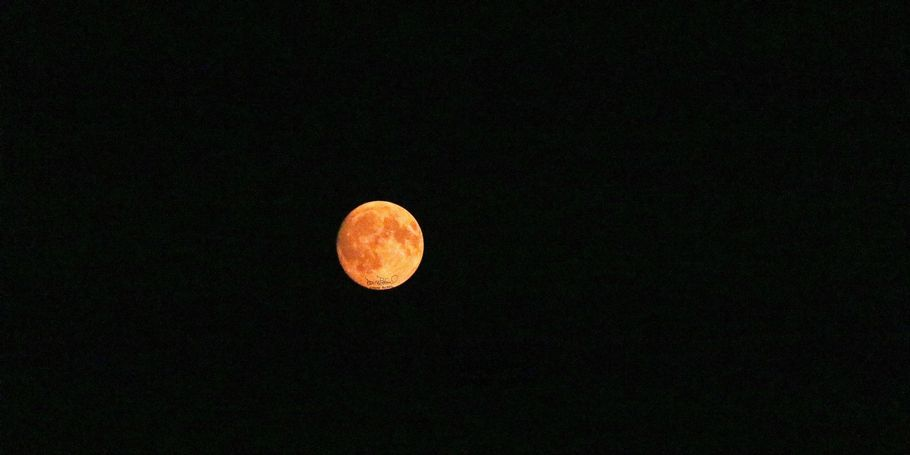 An orange moon