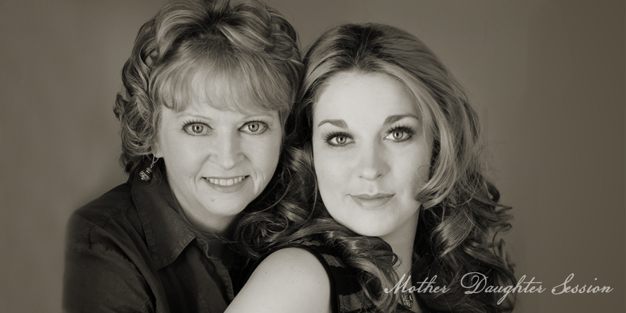 contemporary beauty mother and daughter portrait by gene rodman