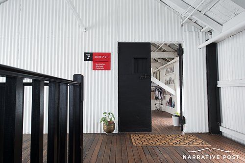 Warehouse photo studio hire Sydney entry foyer space