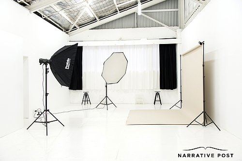 White warehouse photo studio hire sydney
