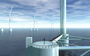 Offshore windmill farm